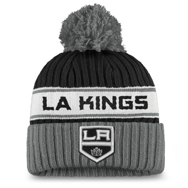 NHL Women's Los Angeles Kings Authentic Pro Black Pom Knit Beanie product image