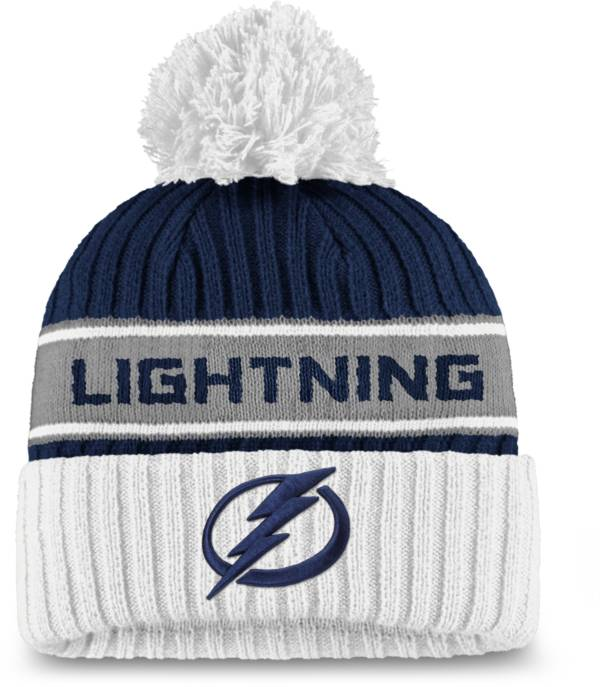 NHL Women's Tampa Bay Lightning Authentic Pro Blue Pom Knit Beanie product image