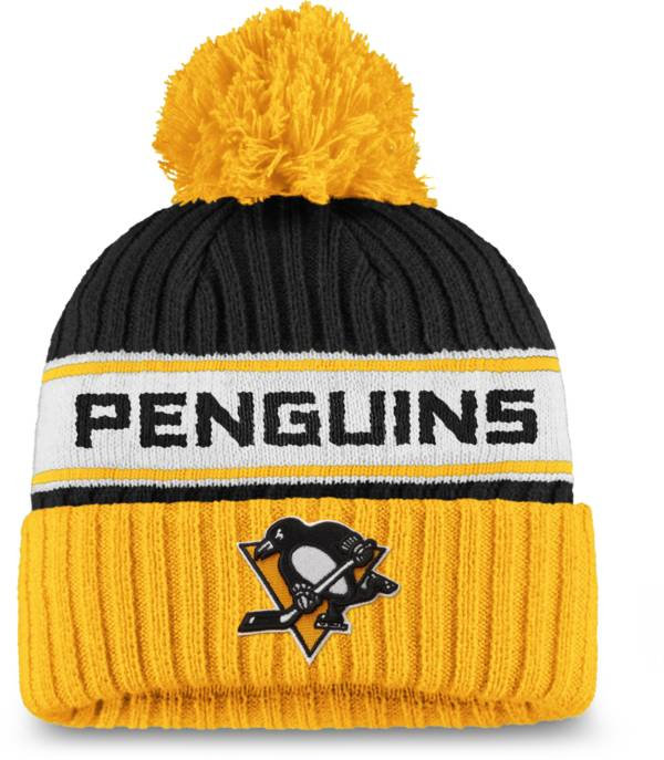 NHL Women's Pittsburgh Penguins Authentic Pro Black Pom Knit Beanie product image