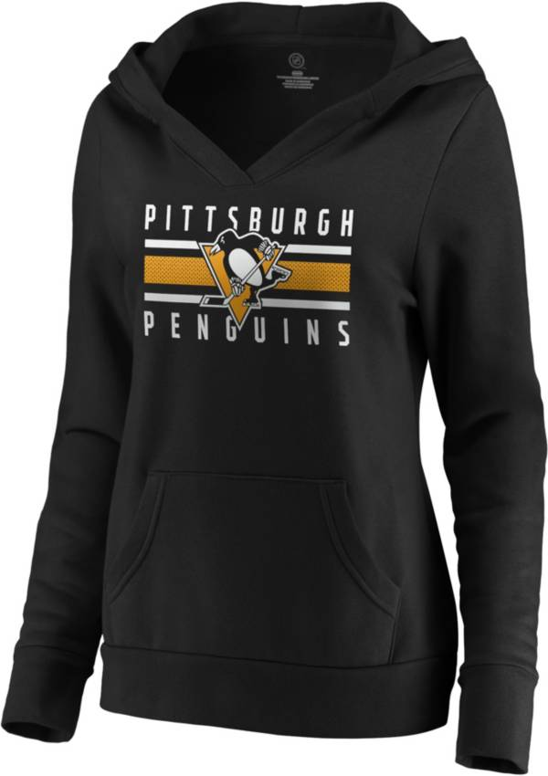 NHL Women's Pittsburgh Penguins Stripe Black Pullover Hoodie product image