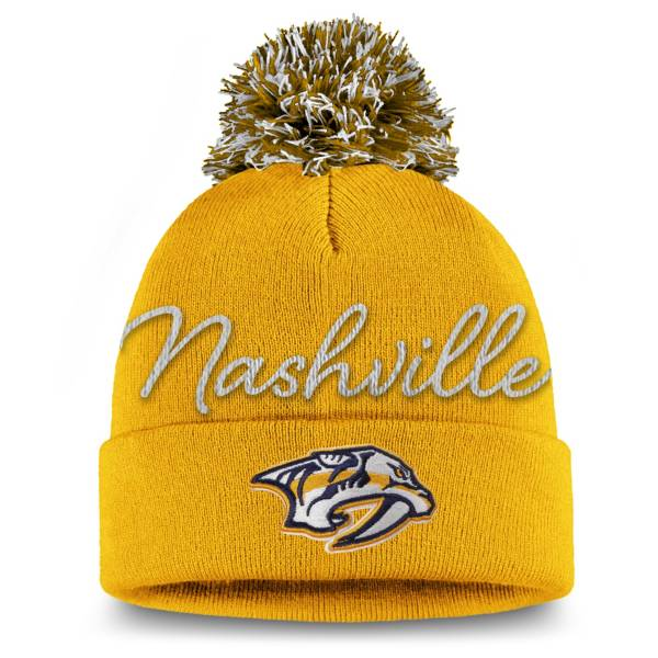 NHL Women's Nashville Predators Exclusive Yellow Pom Knit Beanie product image