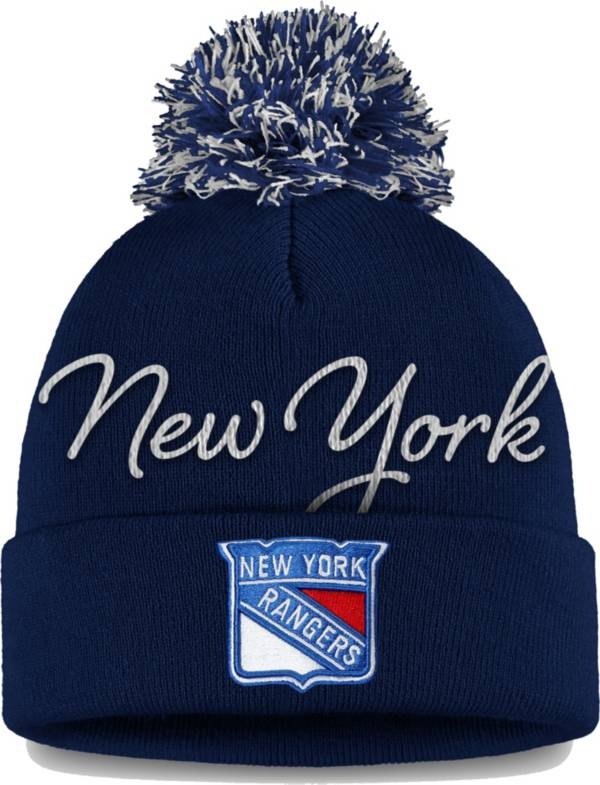 NHL Women's New York Rangers Exclusive Navy Pom Knit Beanie product image