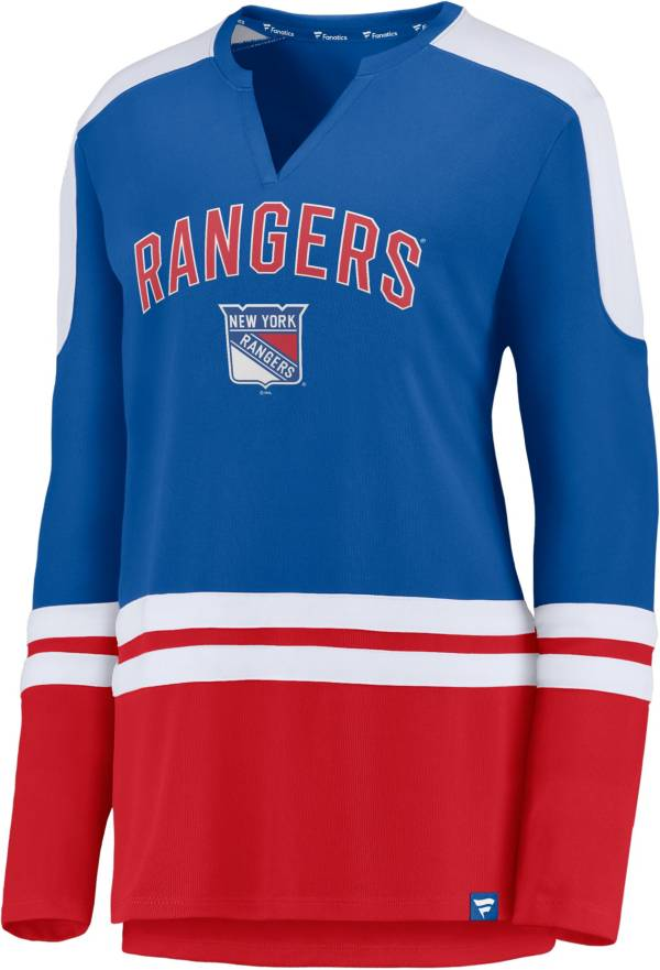 NHL Women's New York Rangers Slapshot Royal Long Sleeve T-Shirt product image