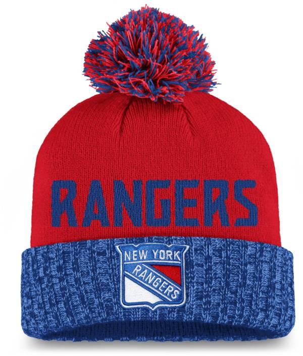 NHL Women's New York Rangers Royal Pom Knit Beanie product image