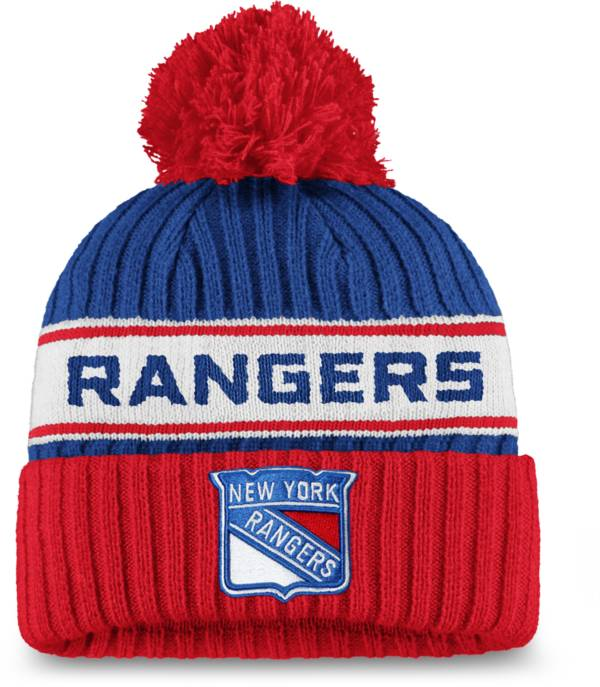 NHL Women's New York Rangers Authentic Pro Royal Pom Knit Beanie product image