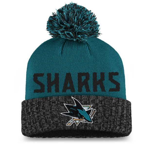NHL Women's San Jose Sharks Black Pom Knit Beanie product image