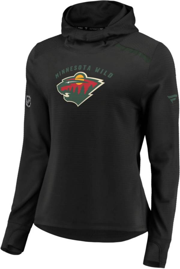 NHL Women's Minnesota Wild Authentic Pro Rinkside Black Pullover Hoodie product image