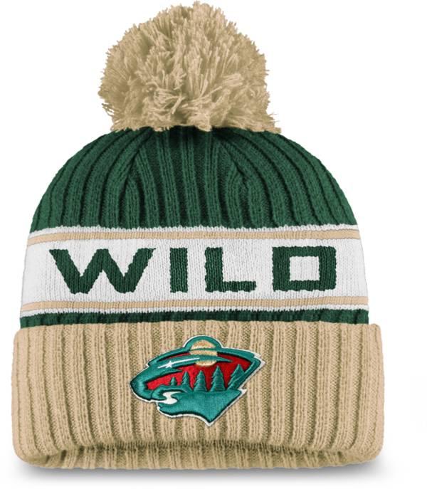 NHL Women's Minnesota Wild Authentic Pro Green Pom Knit Beanie product image