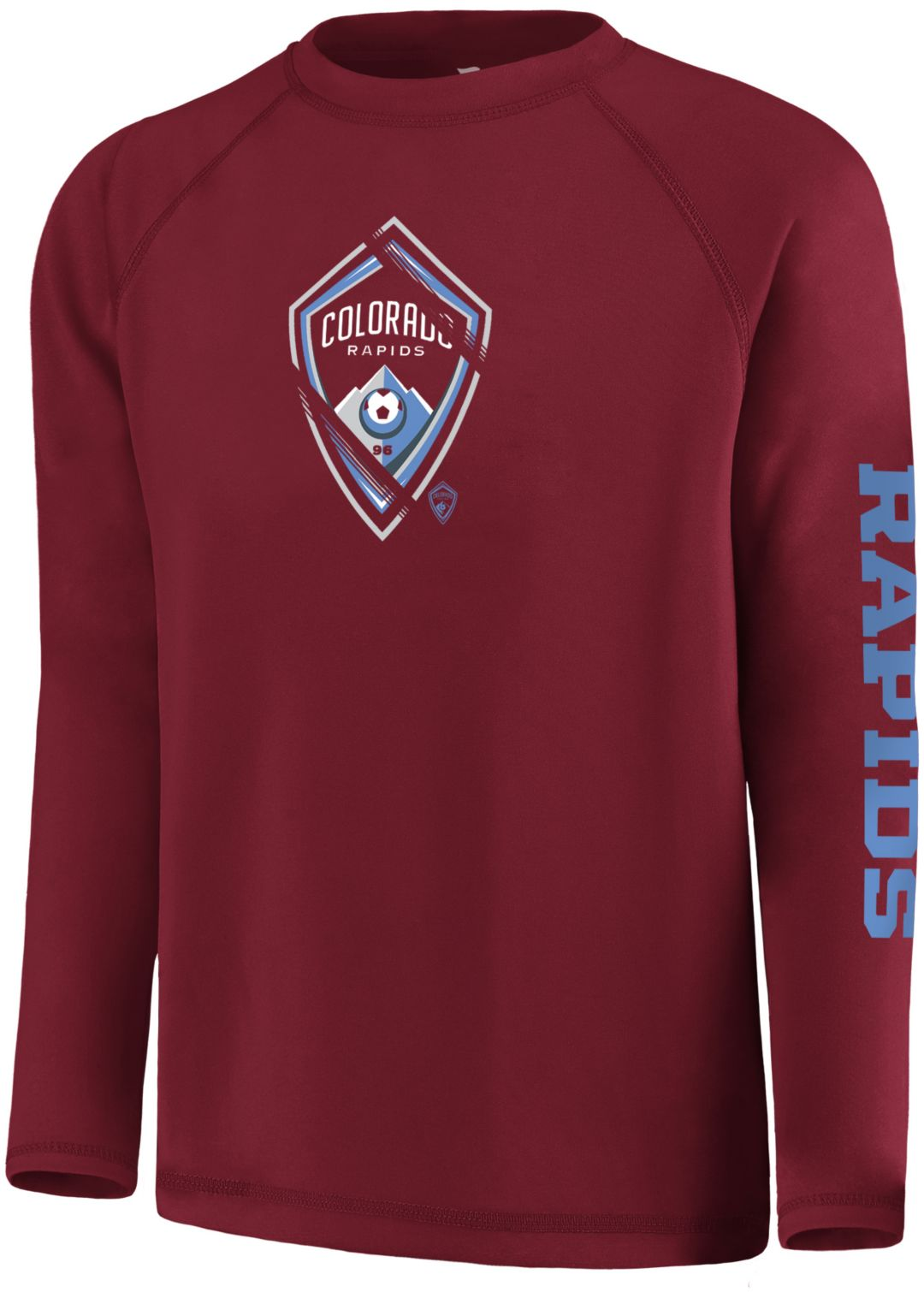 brand new a1649 f42c6 MLS Youth Colorado Rapids Vital Maroon Long Sleeve Shirt. noImageFound.  Previous