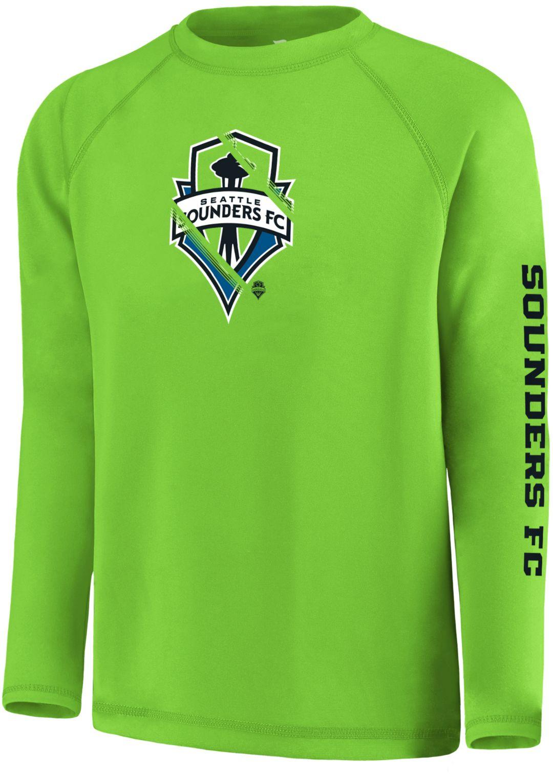 best service 882e3 a2bdb MLS Youth Seattle Sounders Vital Green Long Sleeve Shirt