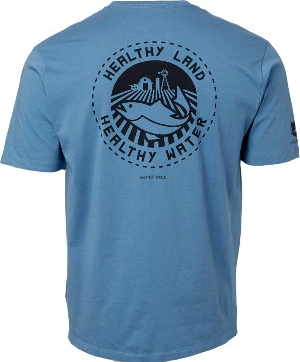 Patagonia Men's Safeguard Stencil World Trout Organic Cotton T-Shirt product image