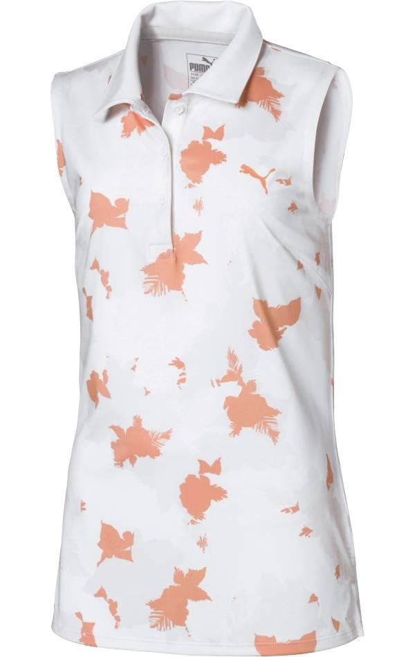 PUMA Girls' Floral Sleeveless Golf Polo product image