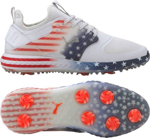 PUMA Men's Limited Edition IGNITE PWRADAPT Caged Stars and Stripes Golf Shoes product image
