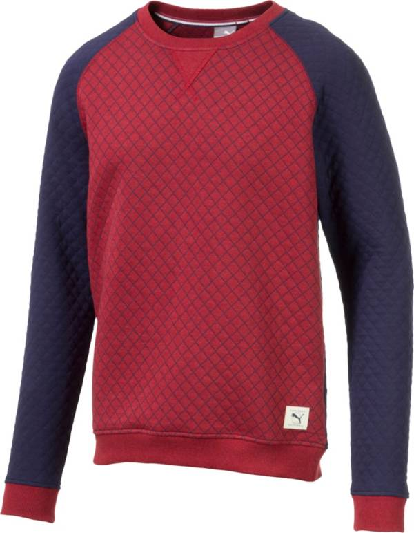 PUMA Men's Quilted Crew Neck Golf Sweater product image