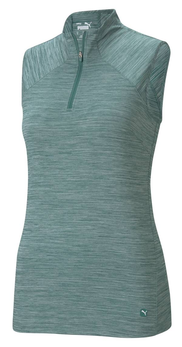 PUMA Women's Daily Mock Sleeveless Golf Polo product image