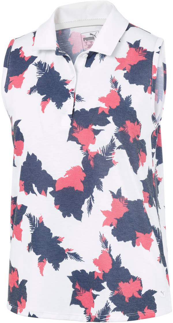 PUMA Women's Floral Sleeveless Golf Polo product image