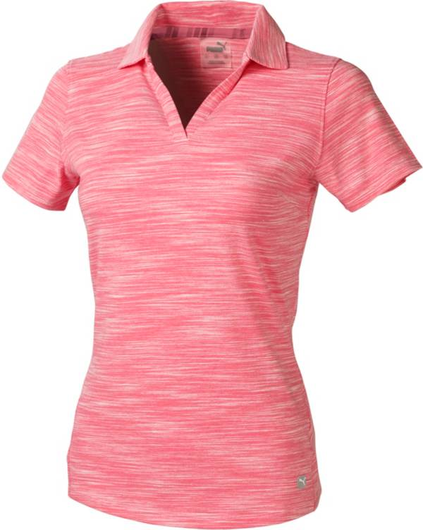 PUMA Women's Heather Slub Short Sleeve Golf Polo product image