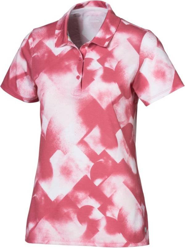 PUMA Women's Soft Geo Print Short Sleeve Golf Polo product image