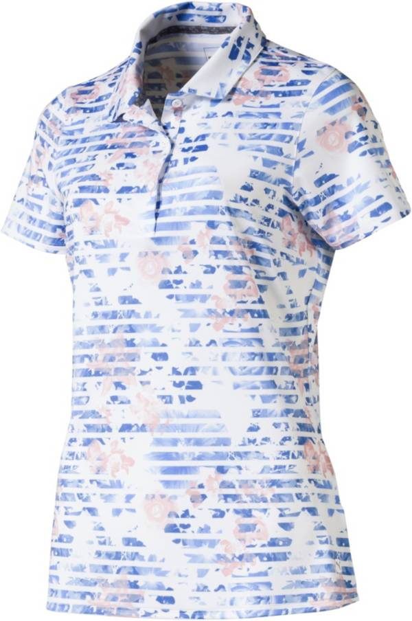 PUMA Women's Floral Stripe Golf Polo product image
