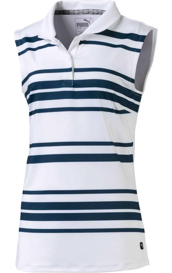 PUMA Girls' Stripe Sleeveless Golf Polo product image