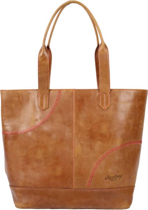 Rawlings Baseball Stitch Large Leather Tote Bag product image