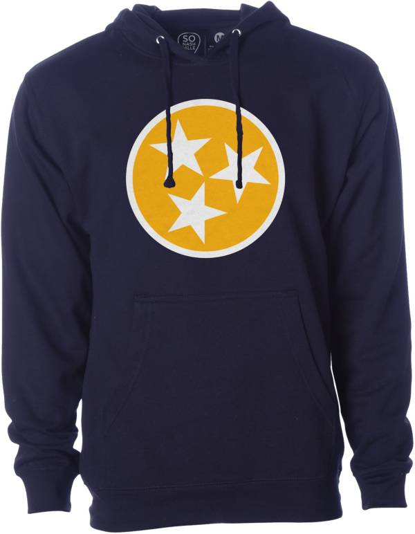 So Nashville Men's Flag Navy Pullover Hoodie product image