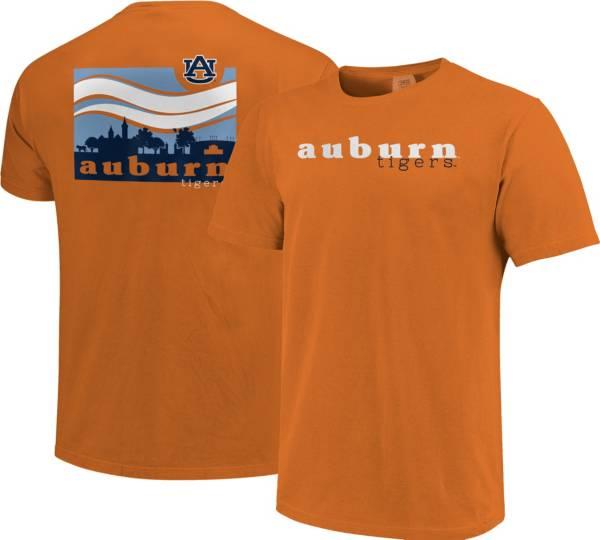 Image One Men's Auburn Tigers Orange Campus Scene Waves T-Shirt product image
