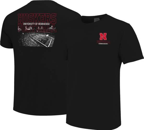 Image One Men's Nebraska Cornhuskers Football Black T-Shirt product image