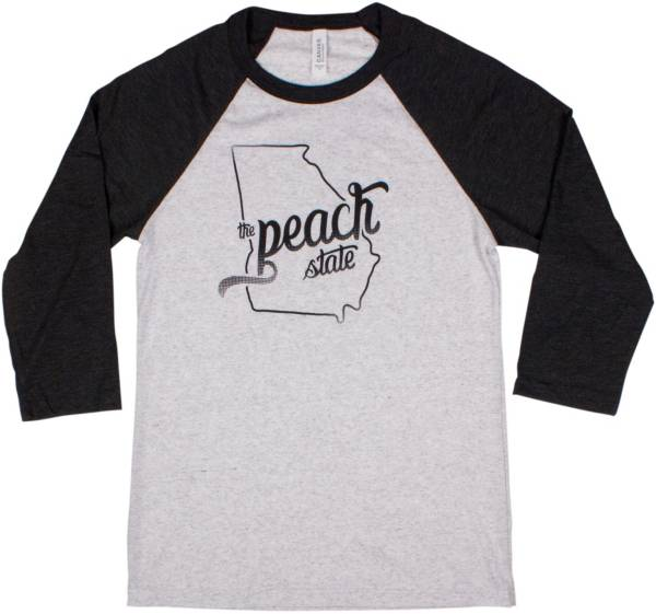 Home State Apparel Women's Georgia Freehand Three Quarter Length Sleeve Raglan T-Shirt product image