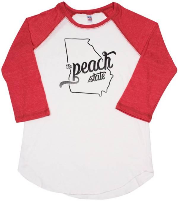 Home State Apparel Women's Georgia Freehand Three Quarter Length Sleeve Raglan T-Shirt product image