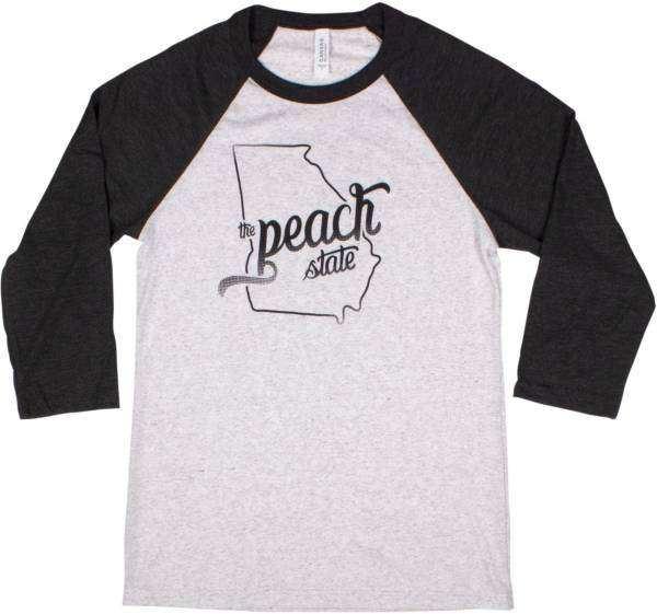 Home State Apparel Women's South Carolina Freehand Three Quarter Length Sleeve Raglan T-Shirt product image