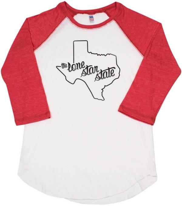 Home State Apparel Women's Texas Freehand Three Quarter Length Sleeve Raglan T-Shirt product image