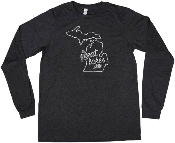 Home State Apparel Women's Michigan Freehand Long Sleeve T-Shirt product image
