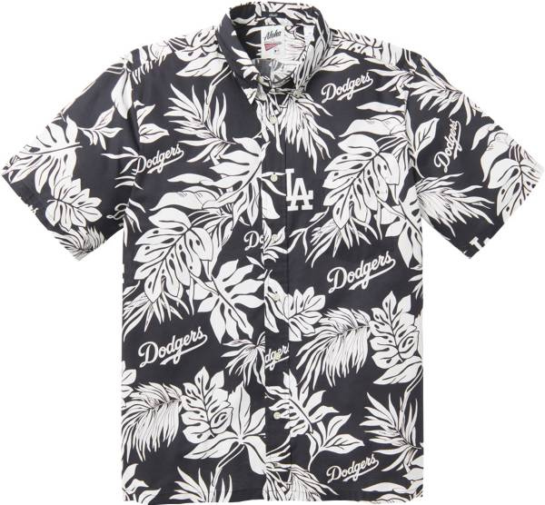 Reyn Spooner Men's Los Angeles Dodgers Black Aloha Button-Down Shirt product image