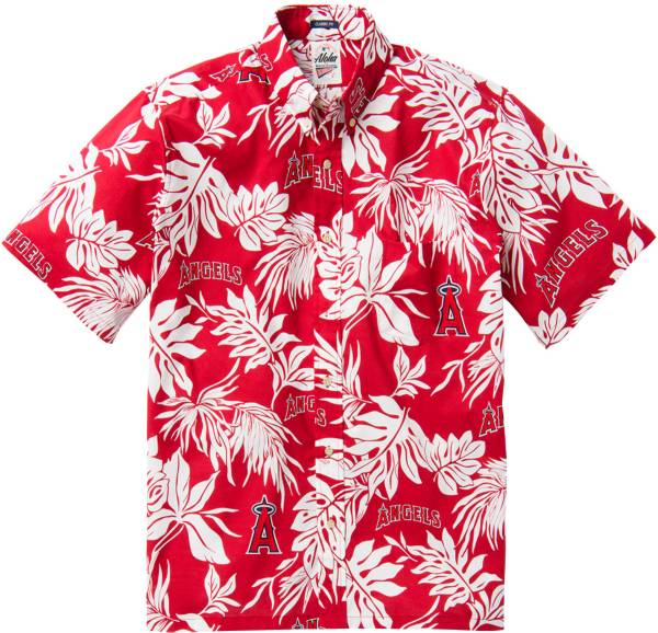 Reyn Spooner Men's Los Angeles Angels Red Aloha Button-Down Shirt product image