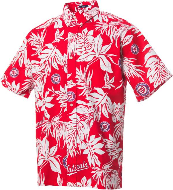 Reyn Spooner Men's Washington Nationals Red Aloha Button-Down Shirt product image