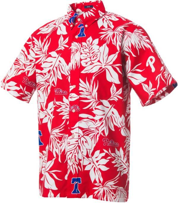 Reyn Spooner Men's Philadelphia Phillies Red Aloha Button-Down Shirt product image
