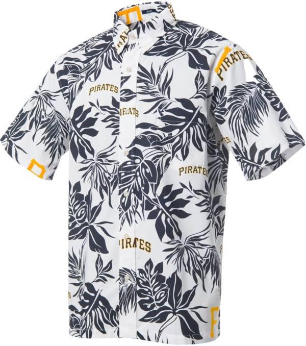 Reyn Spooner Men's Pittsburgh Pirates White Aloha Button-Down Shirt product image