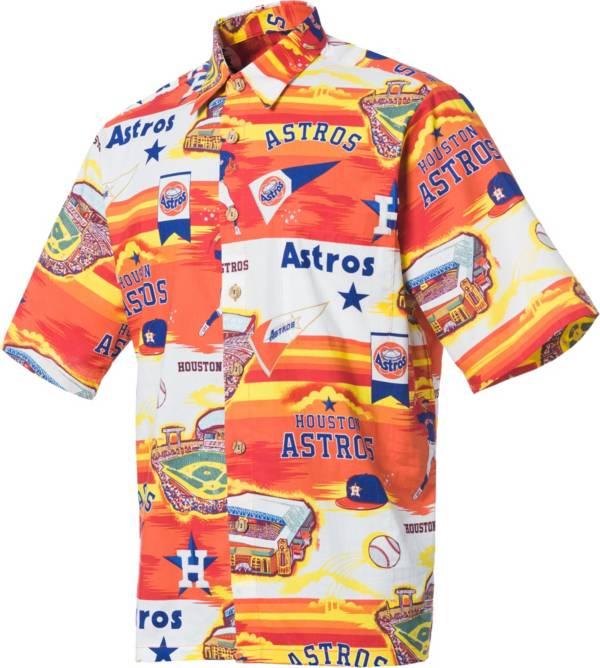 Reyn Spooner Men's Houston Astros Orange Scenic Button-Down Shirt product image