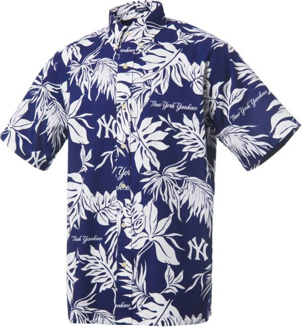 Reyn Spooner Men's New York Yankees Navy Aloha Button-Down Shirt product image