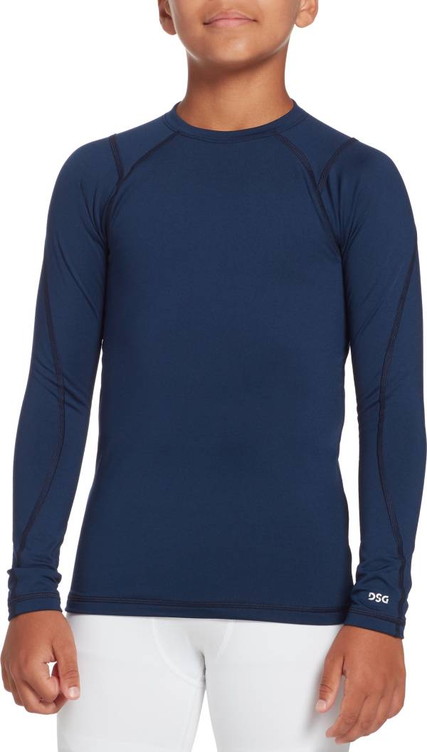 DSG Boys' Cold Weather Compression Crew Long Sleeve Shirt product image