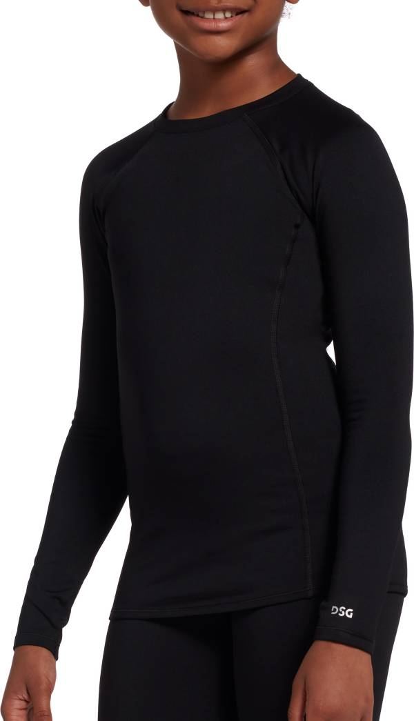 DSG Girls' Cold Weather Compression Crew Neck Long Sleeve Shirt product image