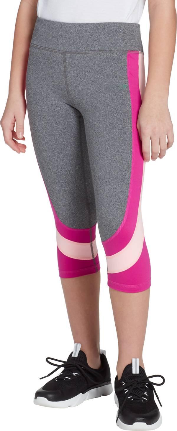 DSG Girls' Heather Side Blocked Capris product image