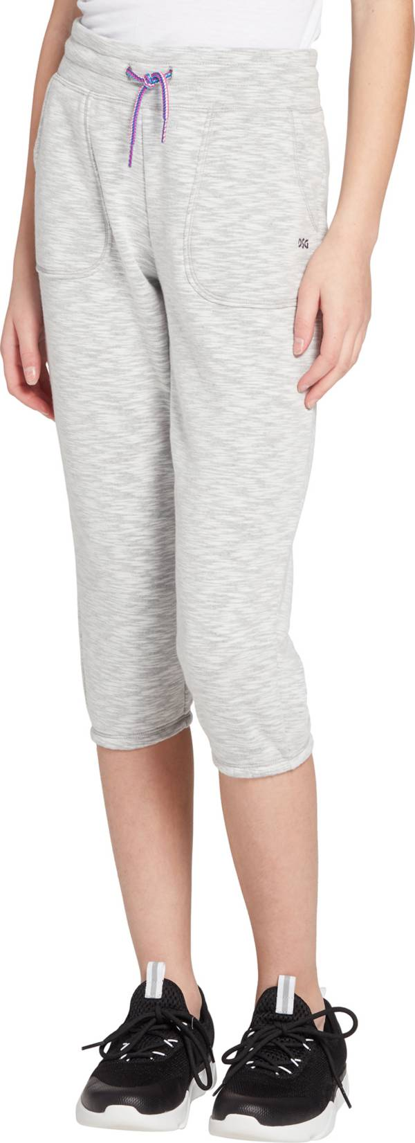 DSG Girls' Slub Cotton Fleece Capris product image