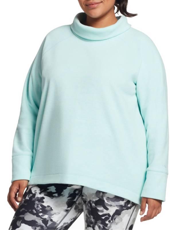 DSG Women's Plus Size Polar Fleece Funnel Neck Heather Sweatshirt product image