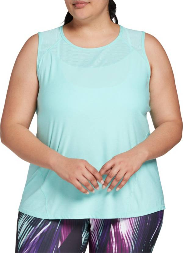 DSG Women's Plus Size Performance Shadow Stripe Muscle Tank Top product image