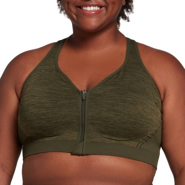 DSG Women's Plus Size Seamless Zip Front Sports Bra product image