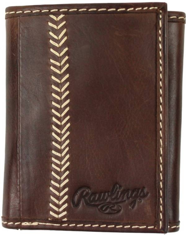 Rawlings Baseball Stitch Leather Trifold Wallet product image