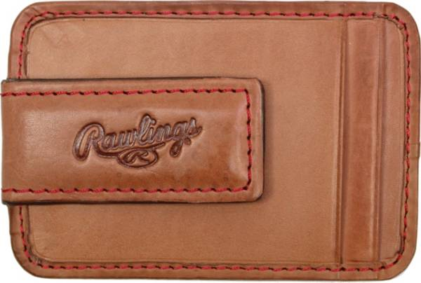 Rawlings Baseball Stitch Leather Front Pocket Magnetic Wallet product image