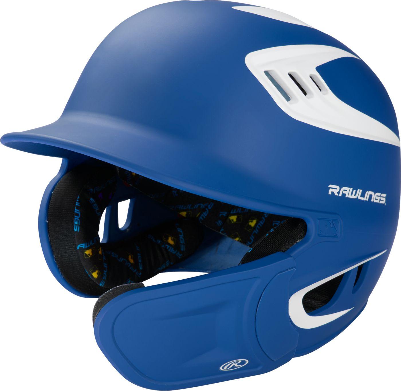 Rawlings Junior VELO Matte Batting Helmet w/ Extended Jaw Guard 1